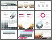 Modern infographics elements for presentation templates.
