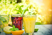 Healthy and refreshing drinks-beverages