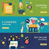 E-commerce Shopping Horizontal Banners
