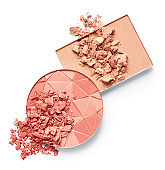 Crushed face powder and blush