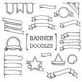Several banner doodles