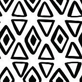 Black and white seamless pattern. Abstract vector illustration