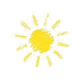 Hand drawn sun doodle