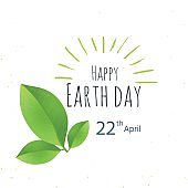 Earth Day postcard. Eco friendly ecology concept