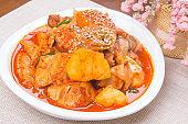 Braised Spicy Chicken - Korean Food