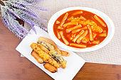 Stir fried Rice Cake & Fried food ( Korean Food - Topokki )