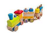 Trains wooden toys