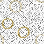 Seamless vector texture pattern with hand drawn circles and dots