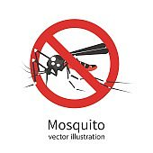 Stop mosquito vector sign