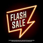 Flash sale neon banner.