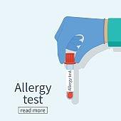 Allergy test vector