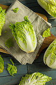 Raw Green Organic Napa Cabbage