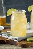 Refreshing Alcoholic Beer Margarita Beerita
