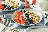 Healthy Fresh Oatmeal with Strawberries