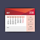 may calendar isolated icon