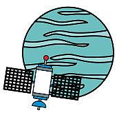 neptune planet with satellite