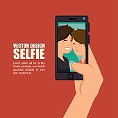 photography selfie style isolated