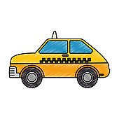taxi service isolated icon