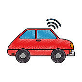 car vehicle with wifi signal