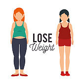 lose weight concept icons
