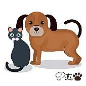 pet mascot isolated icon