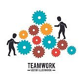 Business teamwork graphic