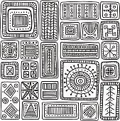 ornamental scandinavian rectangles seamless pattern