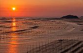 Seaside at sunrise, Xiapu, Fujian, China