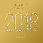 2018 - Happy New Year Greeting card.