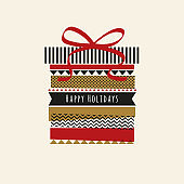 Holiday card with Washi Tape.