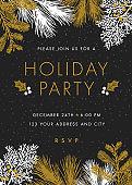 Holiday party invitation. - Illustration