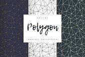 Geometric polygonal seamless backgrounds vector
