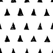 black triangles seamless pattern vector
