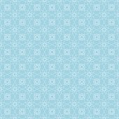 Floral seamless pattern. Blue and white background