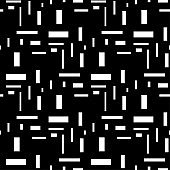 Black and white geometric ornament. Seamless pattern