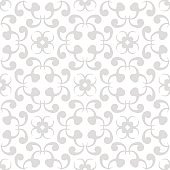 Seamless gray and white pattern with wallpaper ornaments