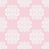 Pink seamless pattern with abstract ornament