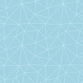 Polygonal seamless background. Geometric line blue and white pattern for wallpapers and textile