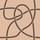 Brown geometric seamless background with curves