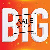 Big sale banners design, discounts and special offer. Shopping background, label for business promotion. Vector illustration.
