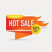 Hot sale price offer. Collection of hot sale and hot price promo seals/stickers. Isolated vector illustration.