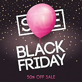 Black Friday. Sale. Can be used for website and mobile website banners, web design, posters, email and newsletter designs.