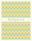 Geometric blue and yellow zigzag background with space for text. Vector illustration