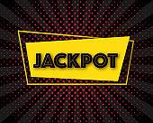 Jackpot advertising sign, vector illustration.