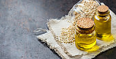 Sesame oil and seeds for healthy eating