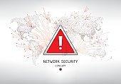 Network security virus alert concept
