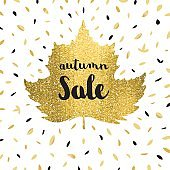 Autumn sale golden leaf