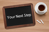 Your Next Step - Business Chalkboard Background