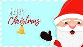 Merry christmas holiday santa claus cartoon card