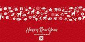 Chinese new year 2018 dog seamless pattern card